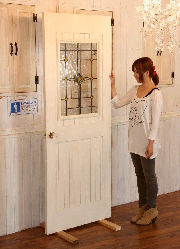 カントリー調 室内ドア 引き戸 開き戸 ステンドグラス co 10003285