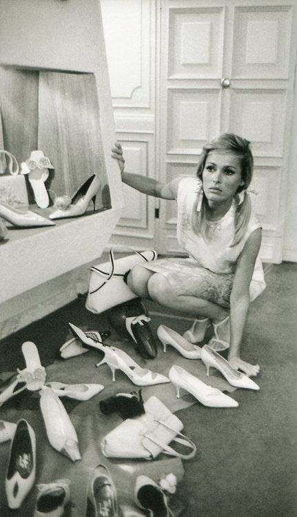Ursula Andress - a girl can never have too many shoes