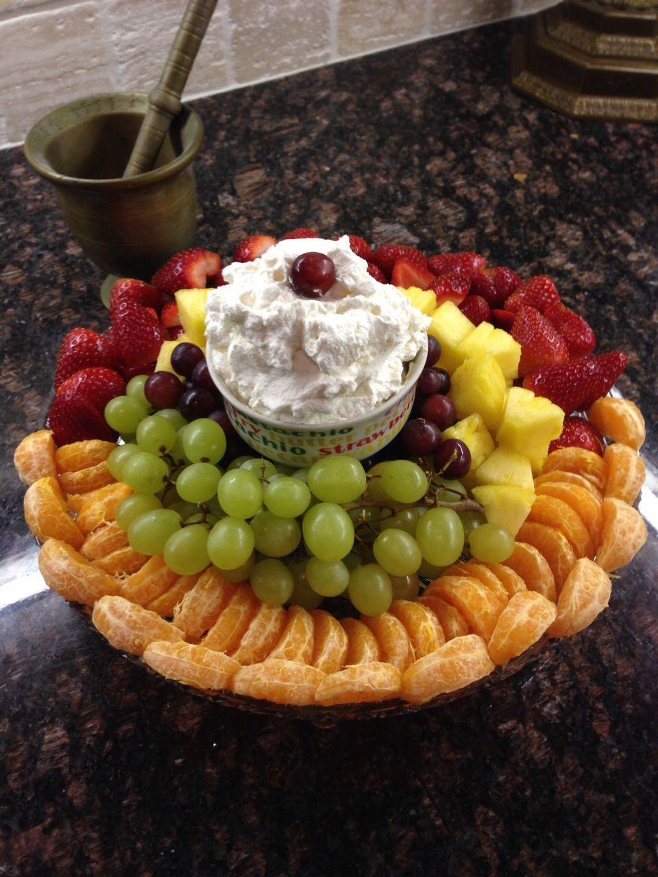 fruit salad with mascarpone whipped cream  salad  food