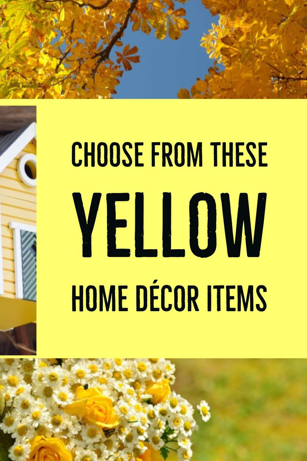 Yellow Home Decor Items for a Room with a Yellow Palette | Pinterest ...