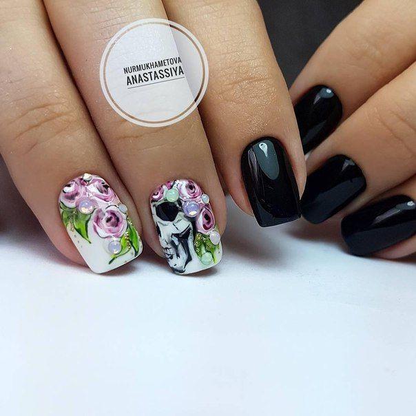 Маникюр | Дизайн ногтей | Ногти, Нейл-арт, Маникюр 3d