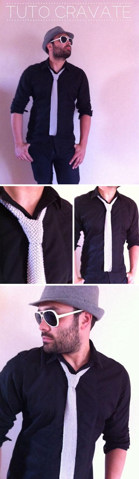 tricot cravate homme tuto tricot pinterest. Black Bedroom Furniture Sets. Home Design Ideas