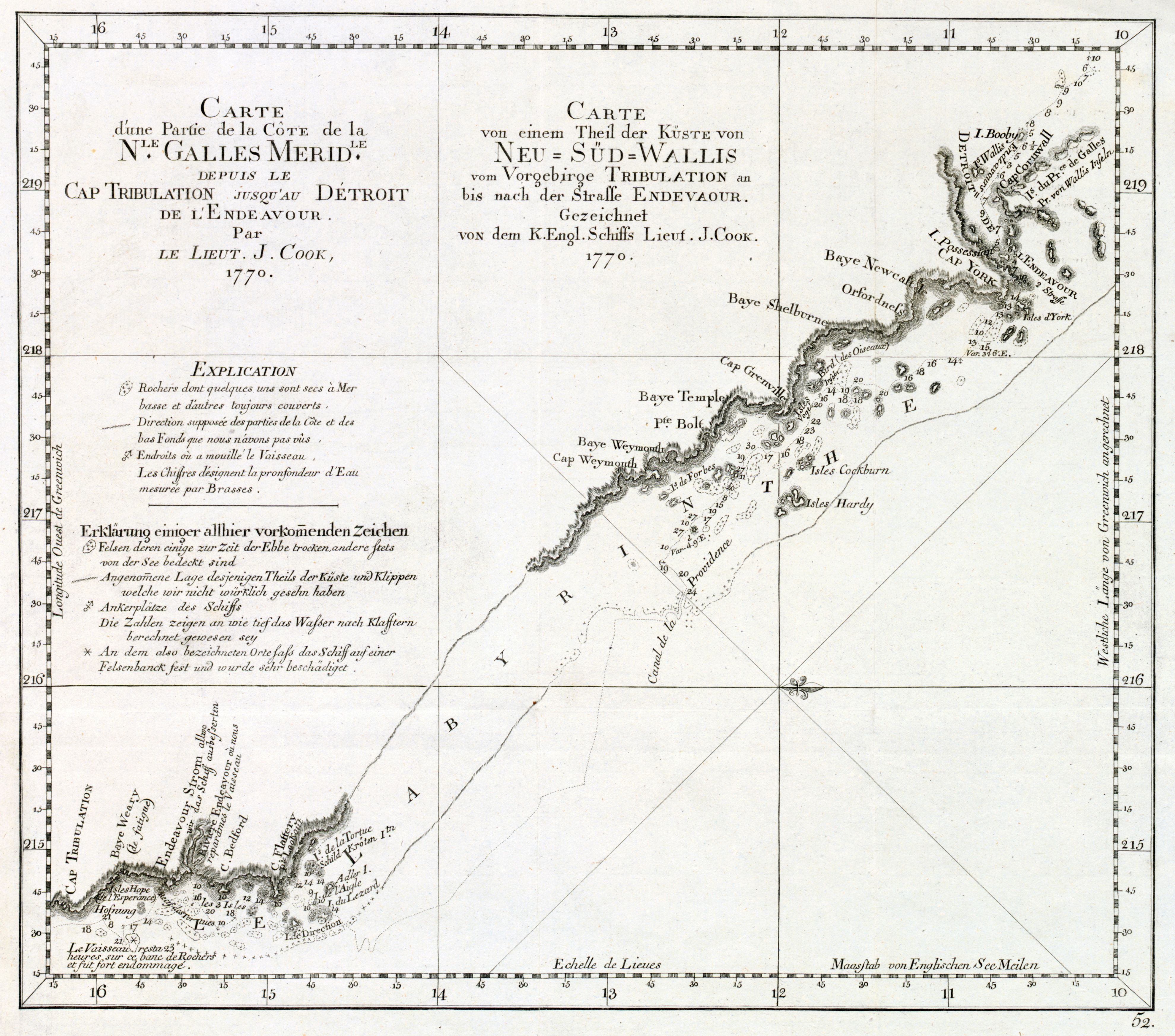 Chart Of Cook S Passage Through The Great Barrier Reef From 1770 Produced In 1774 In 2020 Great Barrier Reef Passage Old Maps