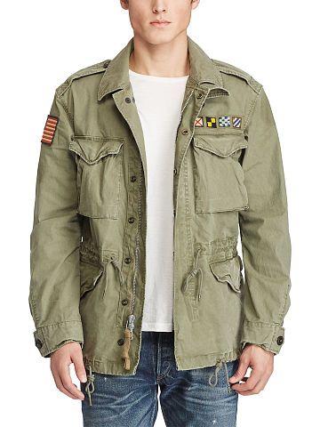 Cotton Canvas Military Jacket - Polo Ralph Lauren Lightweight   Quilted -  RalphLauren.com 435b2169e
