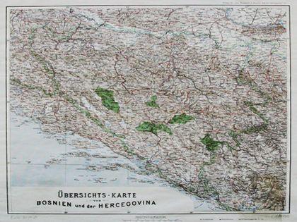 Pregledna Karta Bosne I Hercegovine Bec 1895 Old Maps Map World