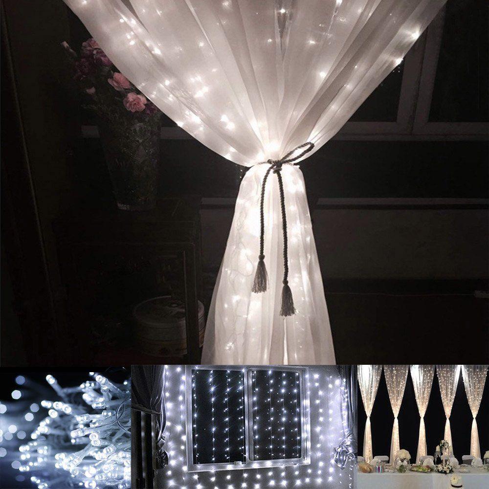 Amazon Com Le 3m 3m 304 Led Curtain Lights Window Curtain