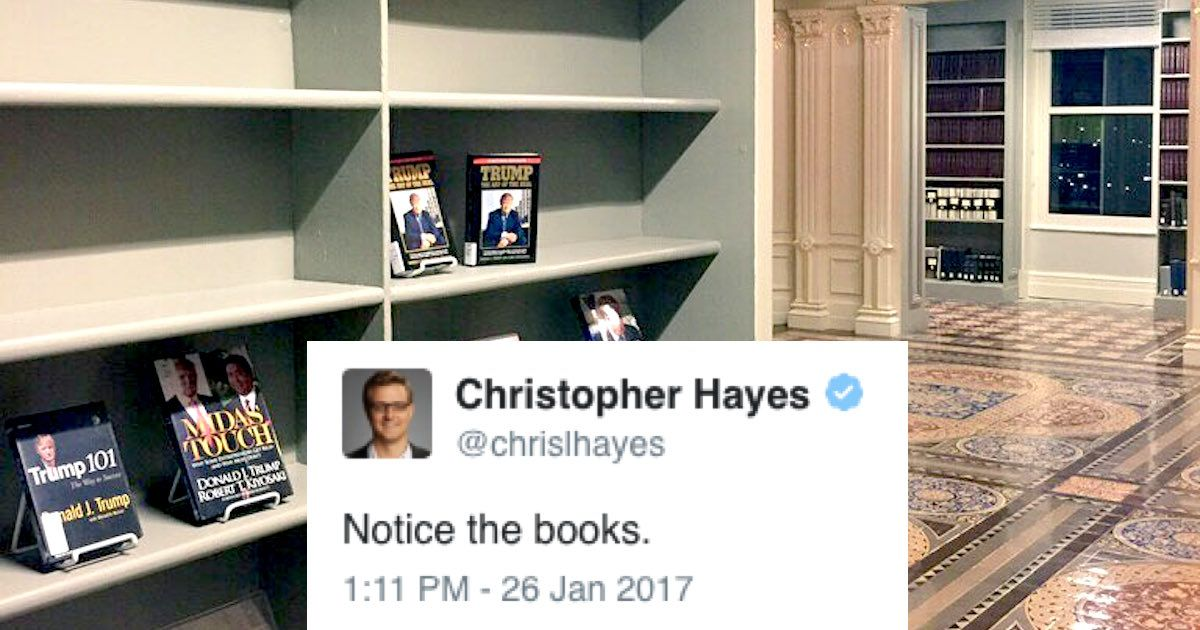 Read Book Shelf twitter reacts to leaked image of this tragic bookshelf in trump