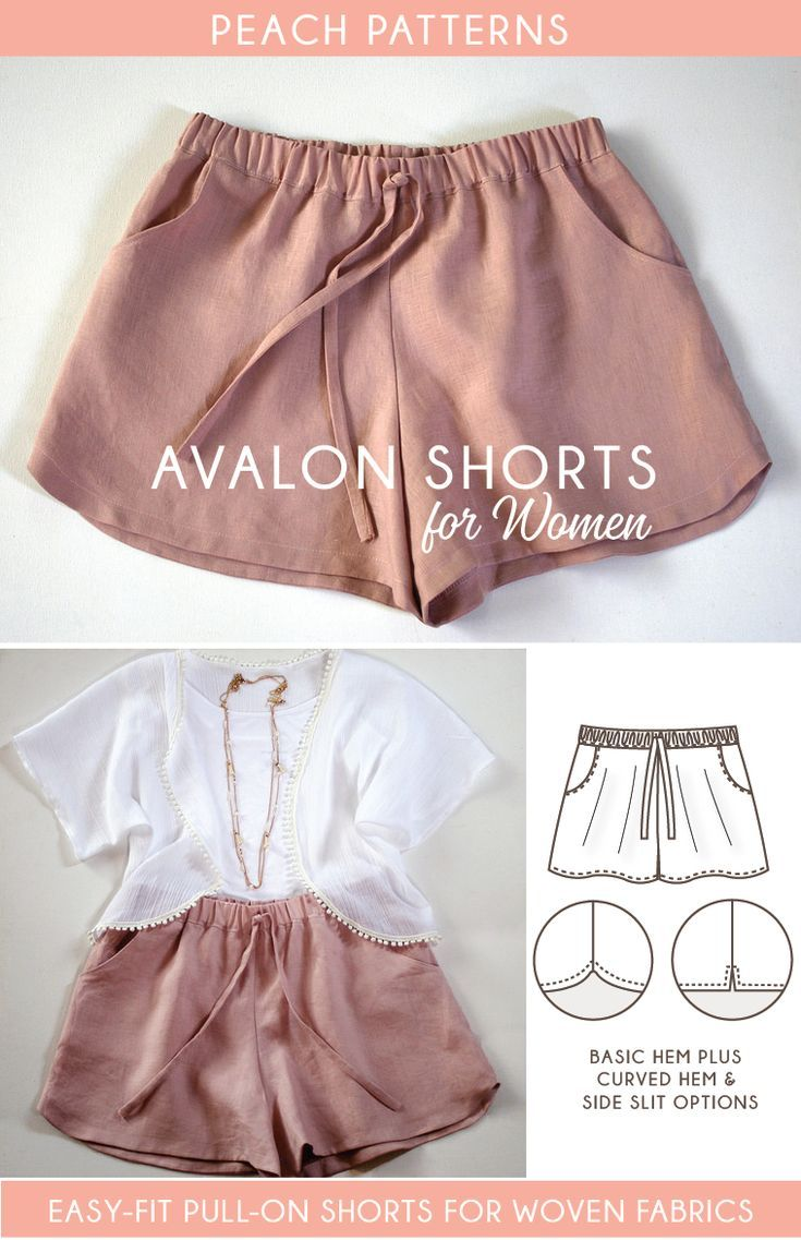 Avalon Shorts PDF Sewing Pattern for Women | ROPA | Pinterest ...
