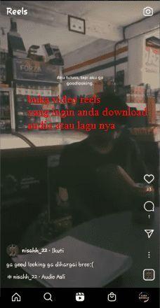 cara download audio di reels instagram