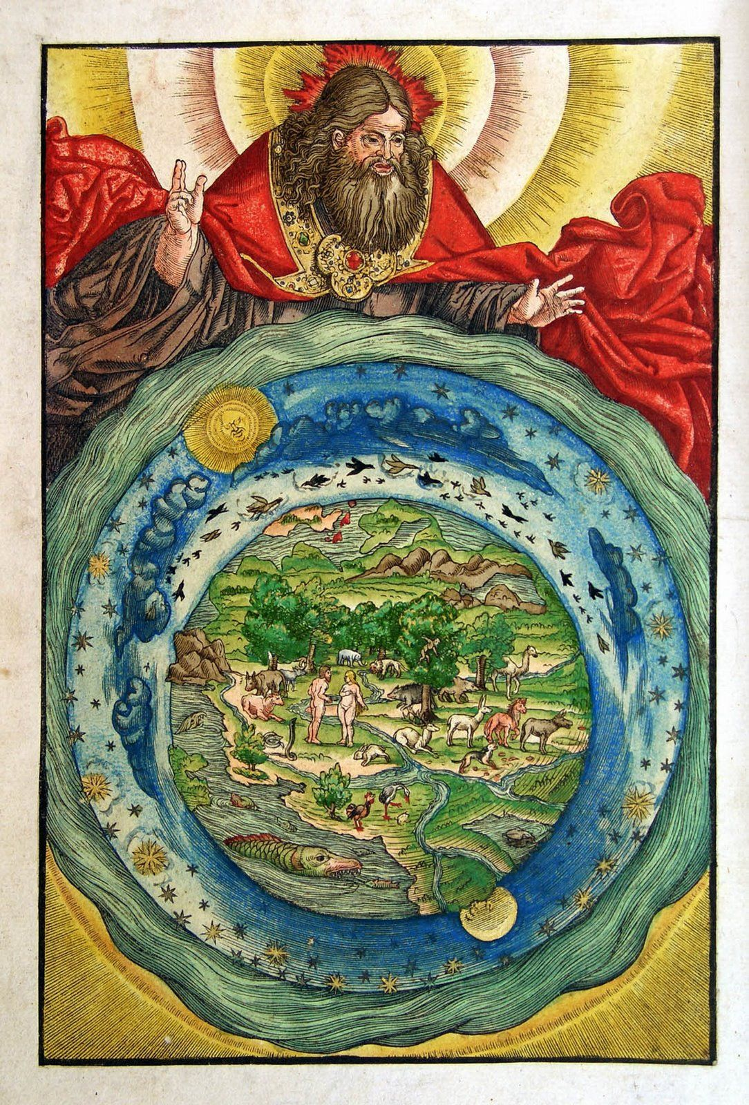 geocentric cosmography in an illustration from luther u0027s bible by