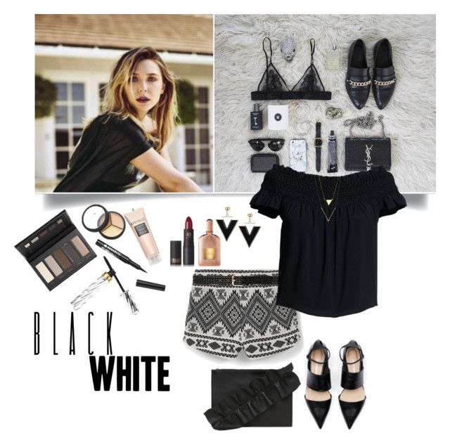 """""""Love these shorts"""" by akflow ❤ liked on Polyvore featuring MANGO, Borghese, Steve Madden, Canvas by Lands' End, Lipstick Queen, Tom Ford and MSGM"""