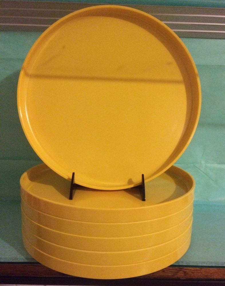 6 Heller Design By Massimo Vignelli 9 34 Yellow Dinner Plates Mcm
