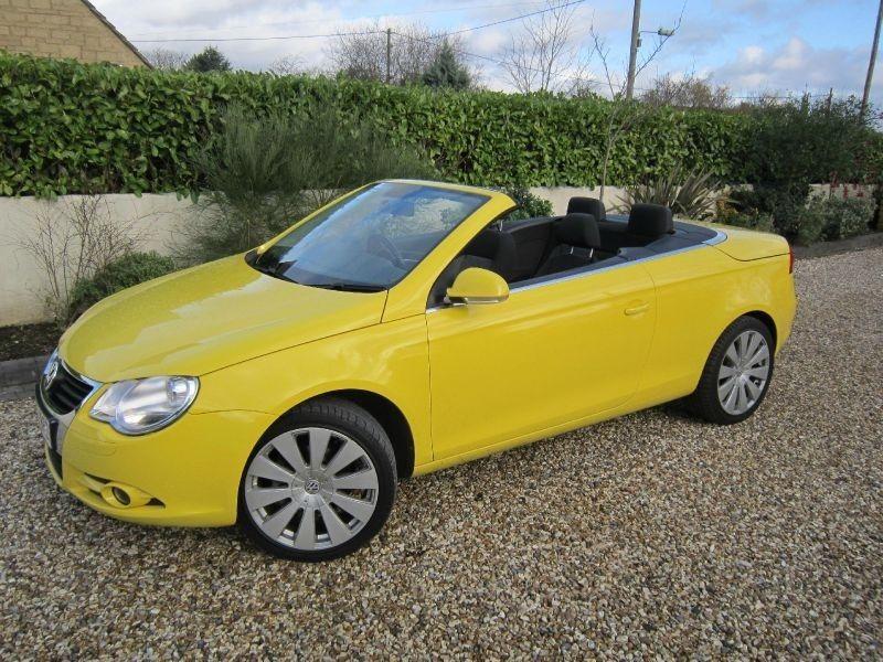 Volkswagen Eos Sport Fsi Car Volkswagen Yellow Car Volkswagen