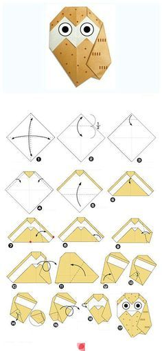 Origami scheme of an Owl in 2020 | Origami owl instructions ... | 511x236