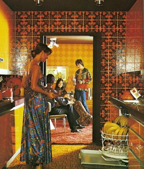 Interior design for a swingin 39 party 70s capture your for Interieur 70 jaren
