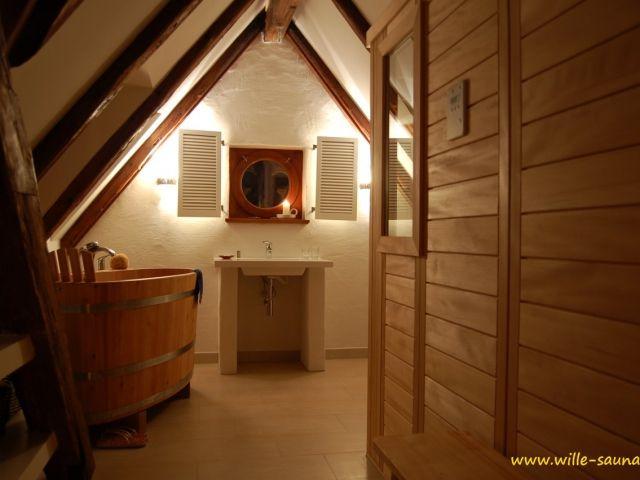 Sauna unterm Dach Dachschräge, Dach, Sauna