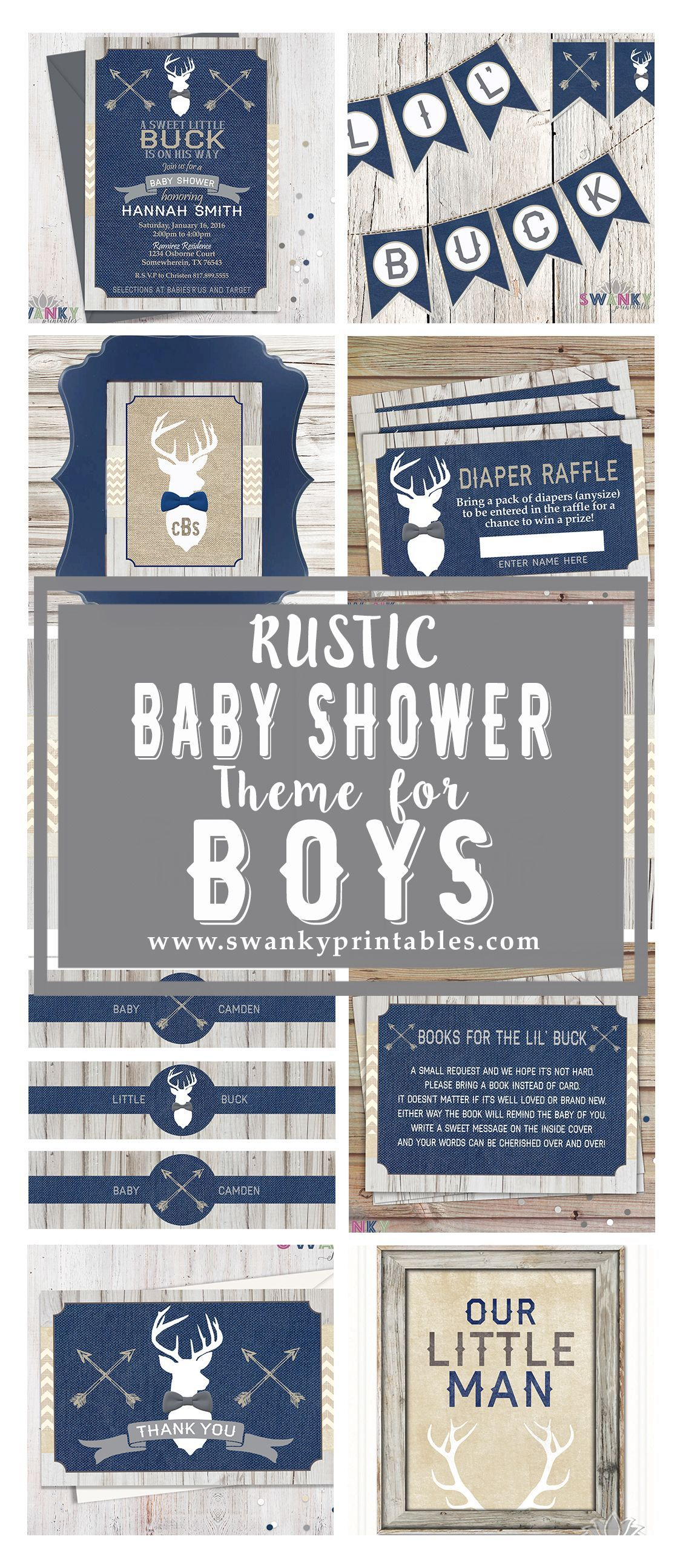 Rustic Deer Baby Shower for Boys Arrows and Deer Baby Shower