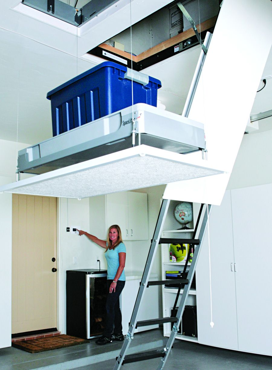 Attic Storage System And Method Garage Attic Lift Attic Renovation Attic Storage