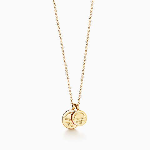 Return to tiffany circle duo pendant in 18k gold my style gold mozeypictures Images