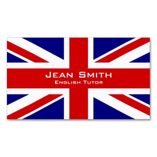 English tutor english teacher with uk flag business card uk flag english tutor english teacher with uk flag business card reheart