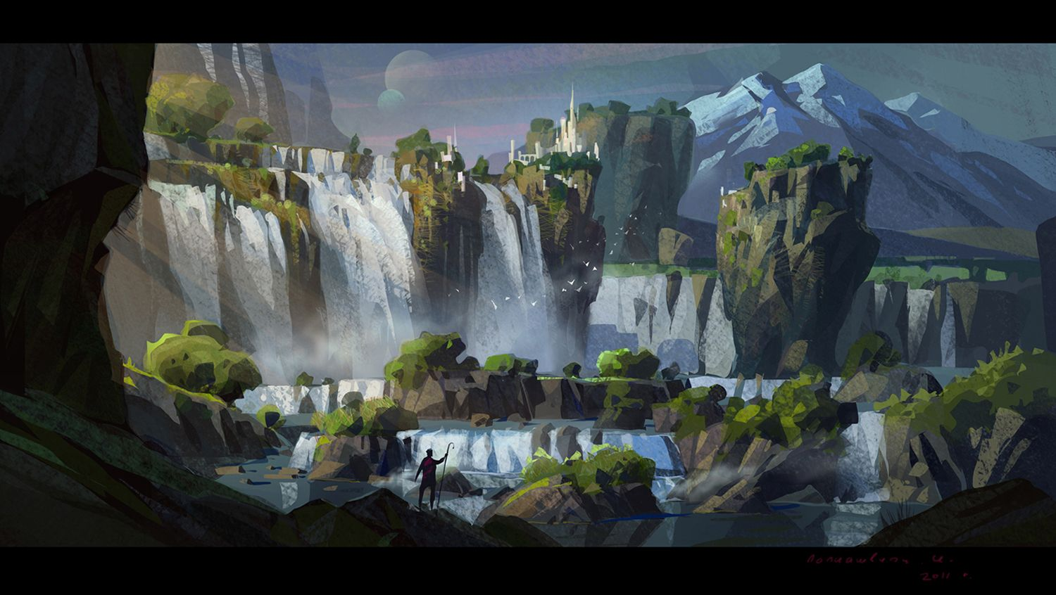 Waterfalls by ivany86 on deviantart via land for Waterfall environment