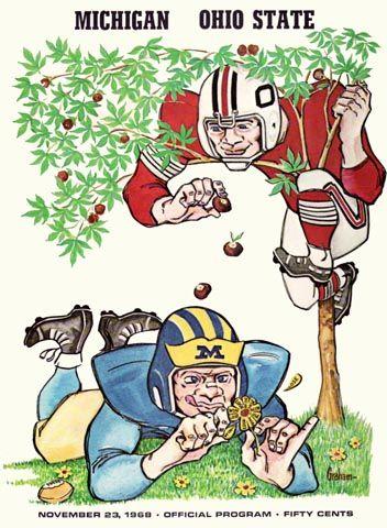 Ohio State Vs Michigan Poster 1968 Football Poster Ohio State Vs Michigan Ohio State Buckeyes Football Logo Ohio State Buckeyes Football
