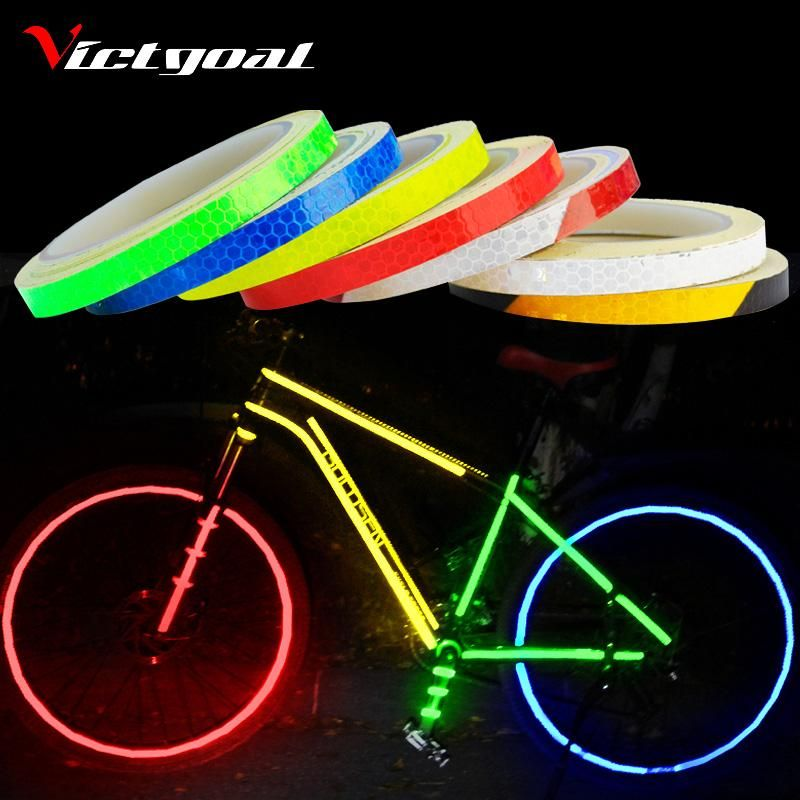 Safety Bicycle Reflective Tape Warning Tape Bike Cycling Wheel Rim Sticker Tape