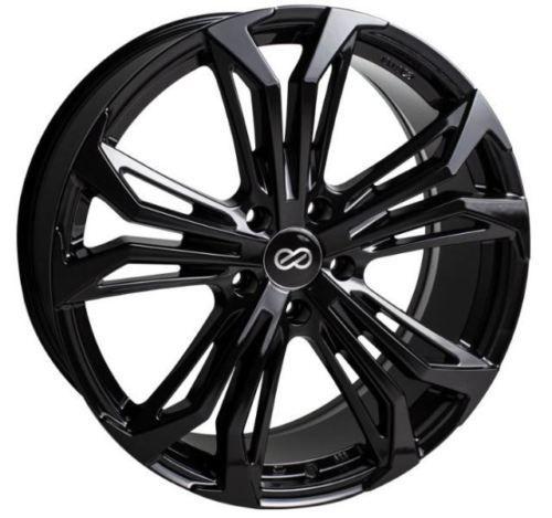 17x75 Enkei Rims VORTEX5 5x100 45 Black Wheels (Set of 4) Car and