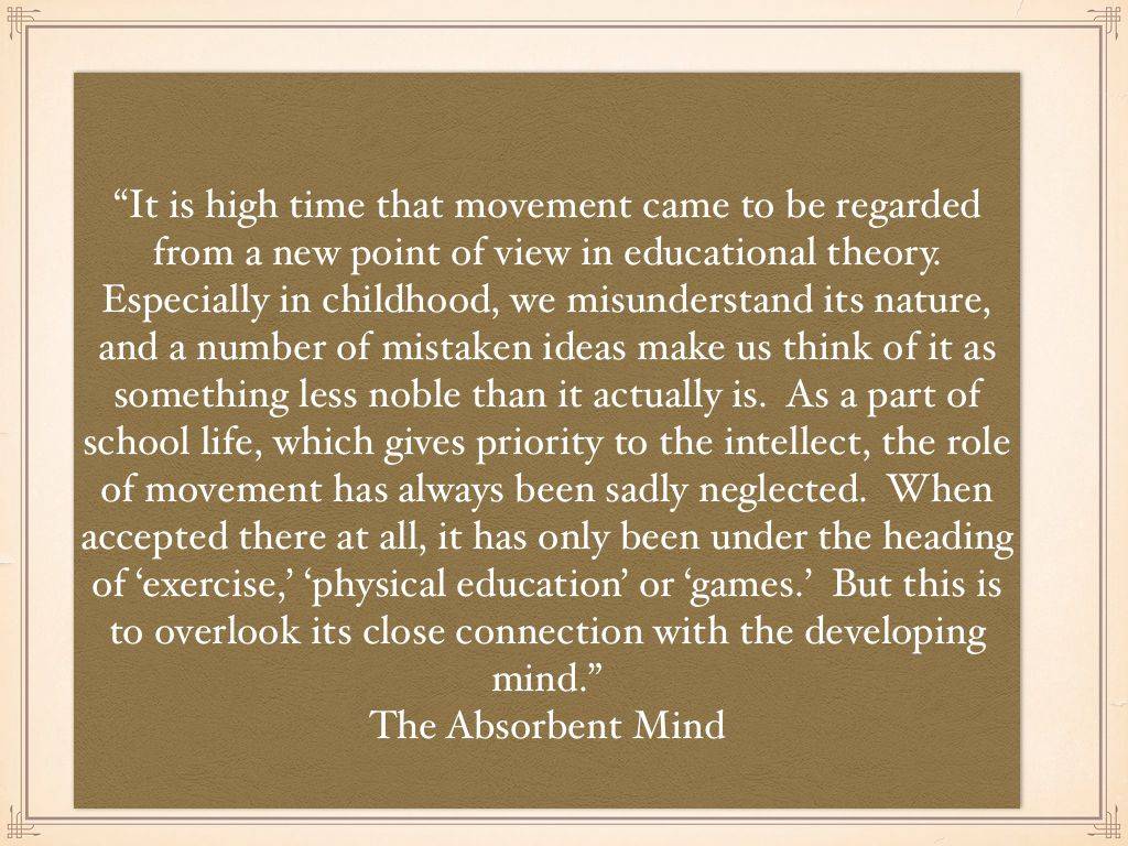 Movement Quotes Montessori Movement Quotes  Indoor Gross Motor For Infants And