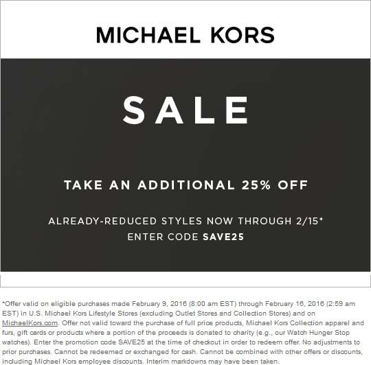 Michael discount coupon