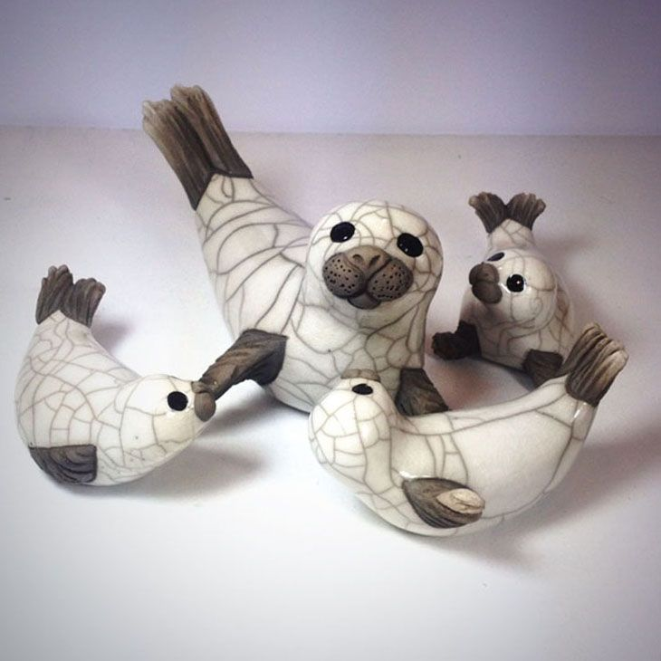 Don't you just love Chloe's Seals - and what is better than to have a whole collection of them - Start with the Mum at £60 and add the pups at £23. Animal Sculptures wonderful presents - lots at www.thewowgallery.co.uk