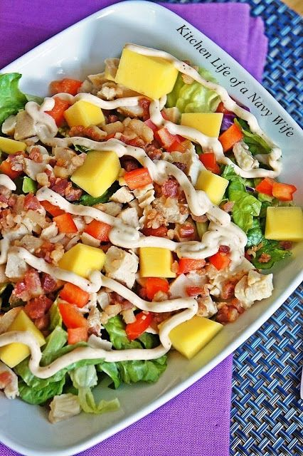 Mango Chicken Salad with Smoky Mayo