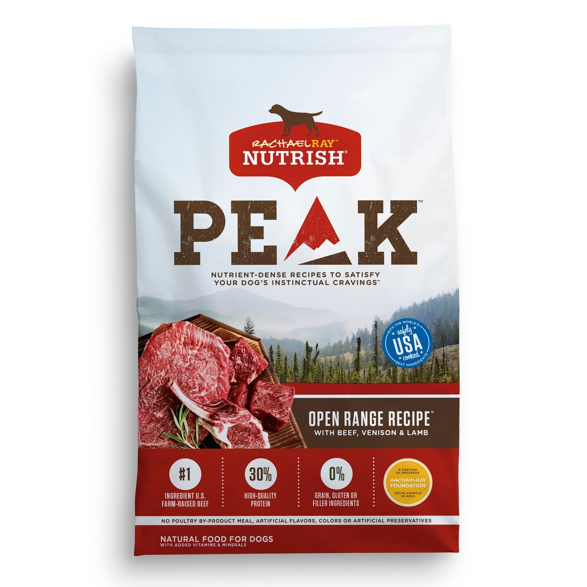 Rachael Ray Nutrish Peak Natural Dry Dog Food Open Range Recipe