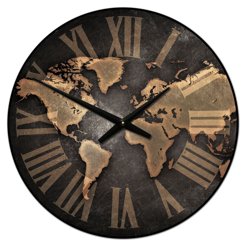 This industrial world map clock makes for stunning office decor this industrial world map clock makes for stunning office decor starting at 44 this clock ships for free and comes in any of seven different sizes gumiabroncs Image collections