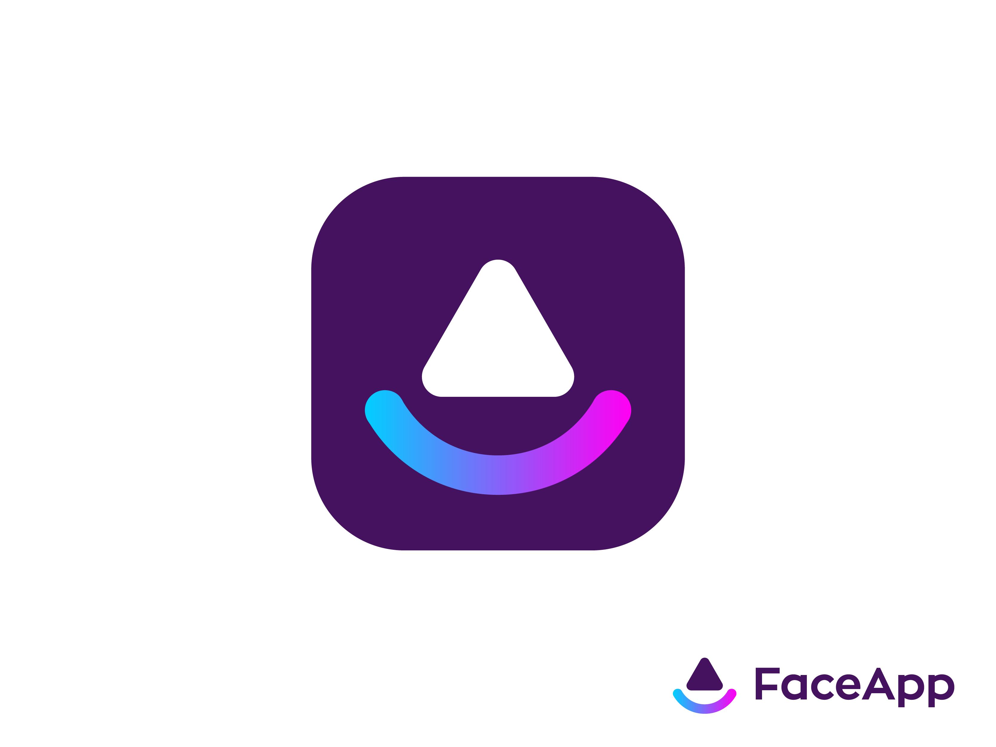 Faceapp Logo Concept Logo Concept Logo Design Creative Logo Design