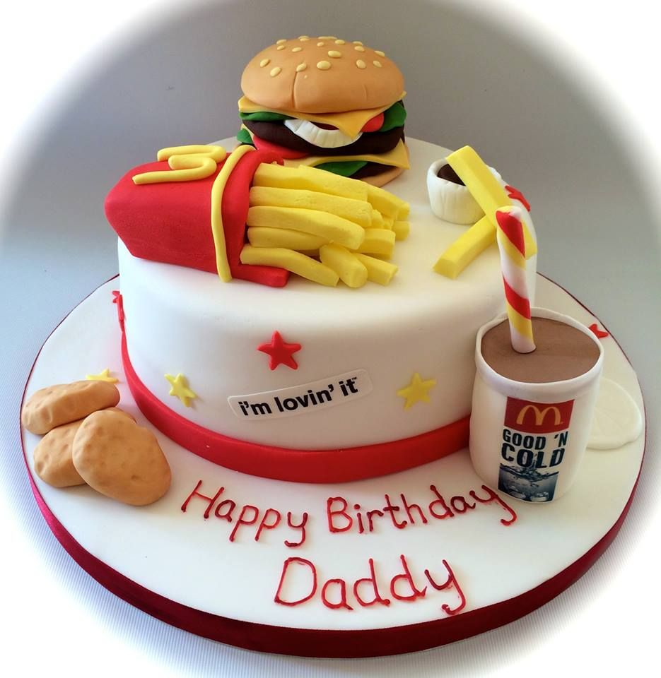 Strange Mcdonalds Take Away Themed Birthday Cake By Facebook Com Birthday Cards Printable Nowaargucafe Filternl