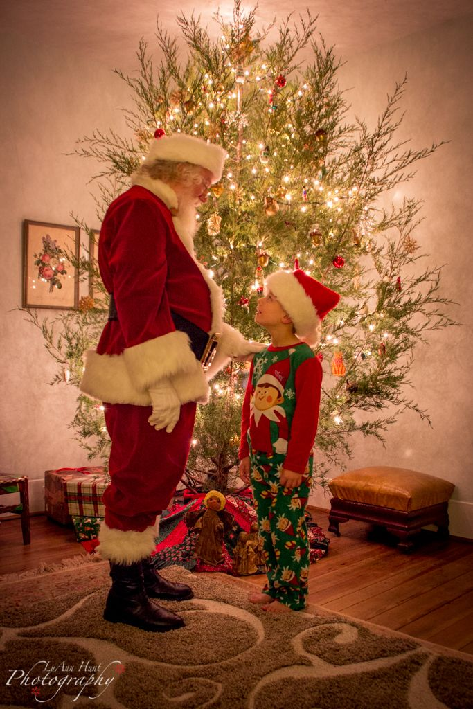 Magical moment with Santa. by LuAnn Hunt Photography