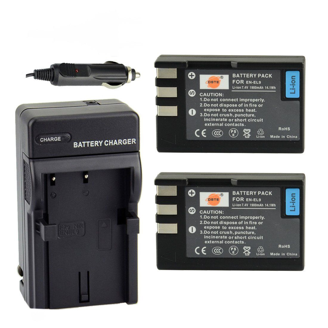 15.99 amazon DSTE 2x ENEL9 Battery + DC15 Travel and