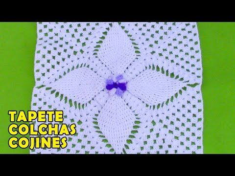 Tapete O Carpeta Para Colchas Y Cojines Tejido A Crochet Youtube