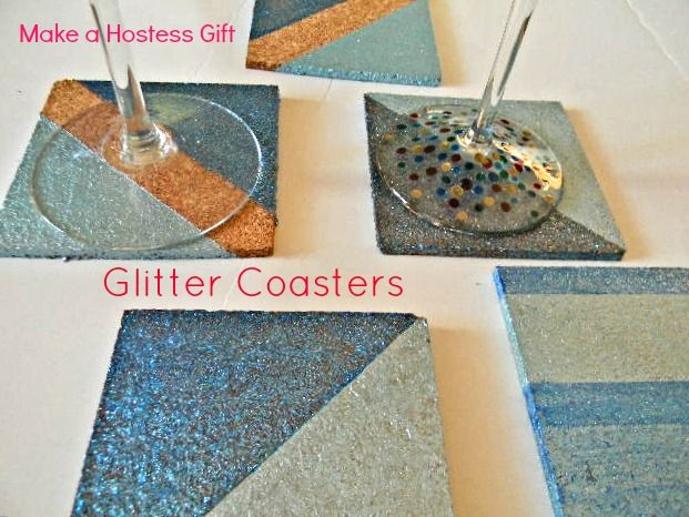 The Design Pages: DIY Glitter Coasters