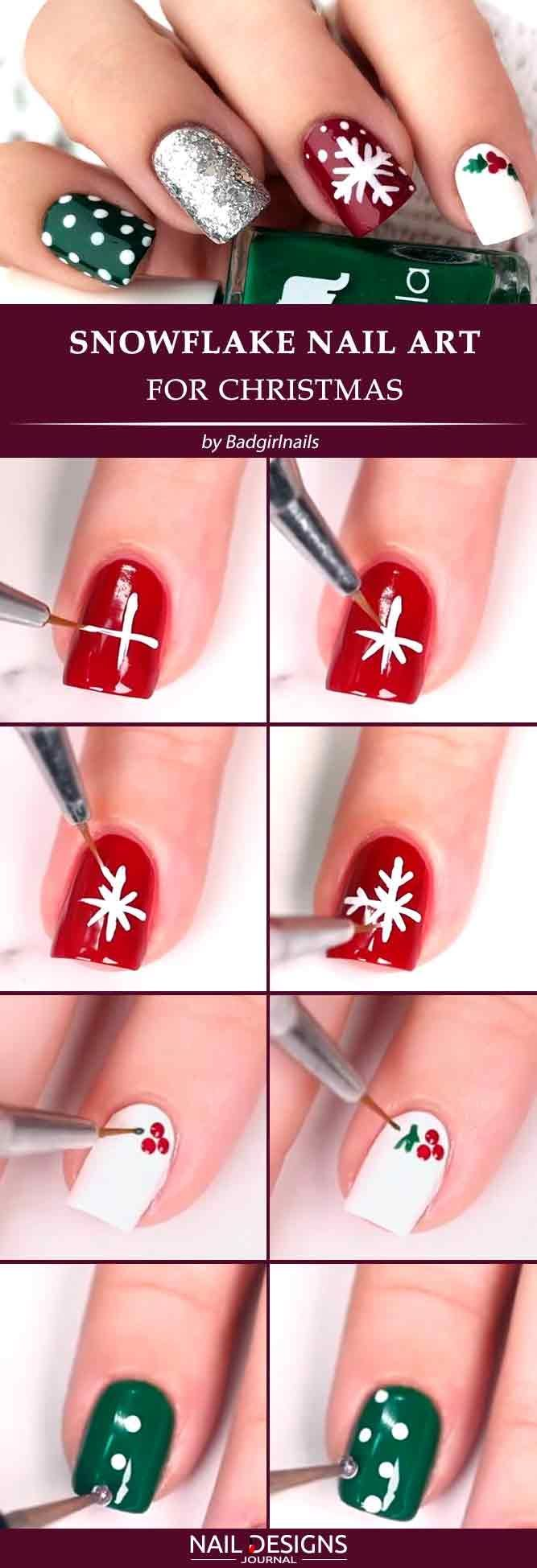 Best Tutorials on Snowflake Nails Designs #neiged#39;hiver
