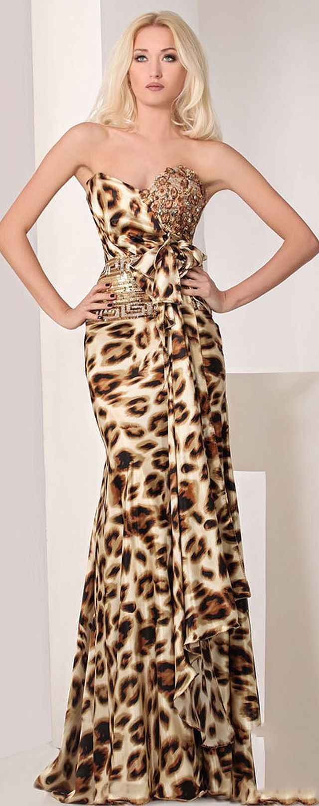 Long dresses for summer wedding  Glorious dress  Leopard Print Fashion  AnimalCheetah  Pinterest