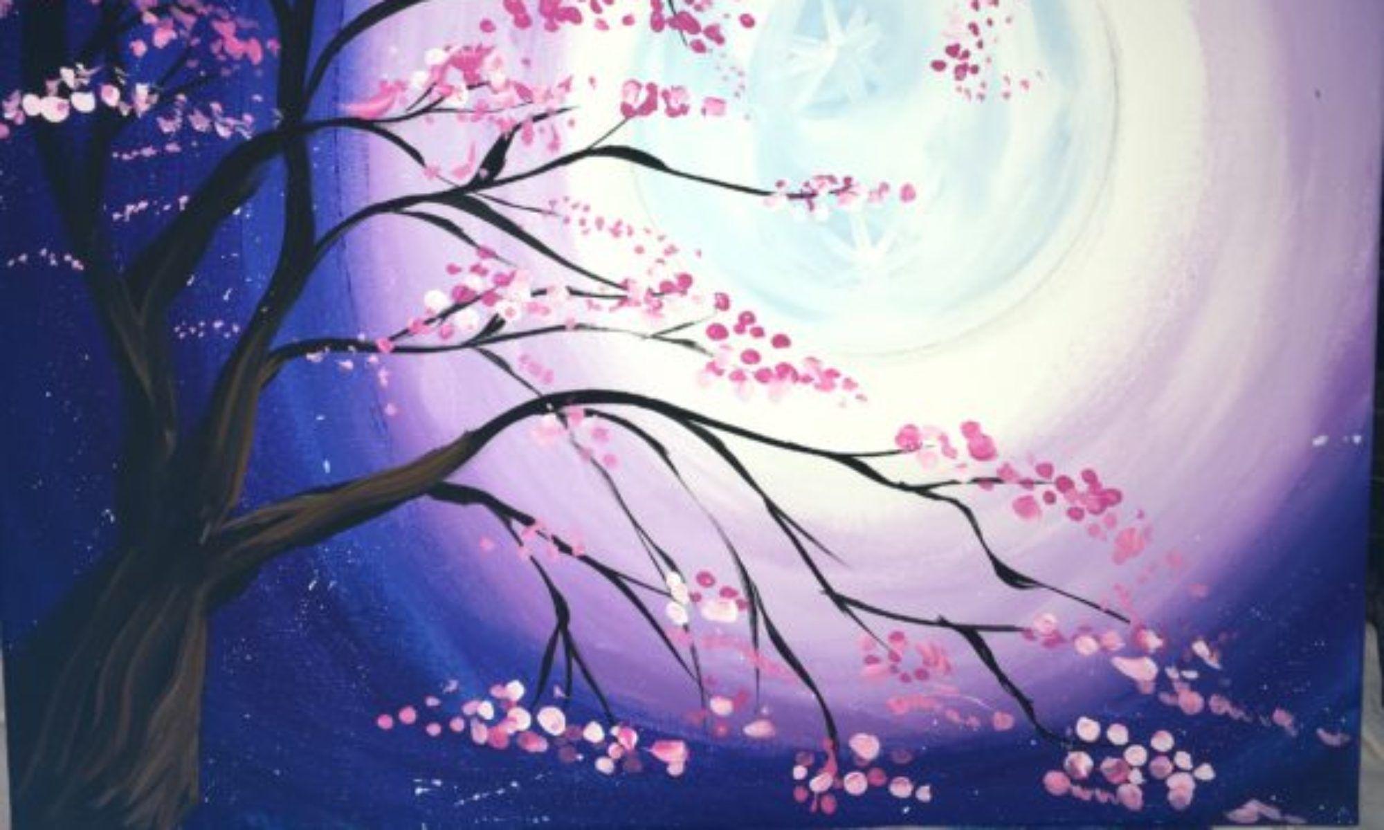 Cherry Blossom Cat Cross Stitch Pattern By Tereena Clarke Crosstitch Com Cat Art Cats Illustration Cat Painting
