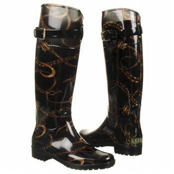 Women\'s LAUREN RALPH LAUREN Rossalyn II Black/Lauren Tan Shoes.com ...