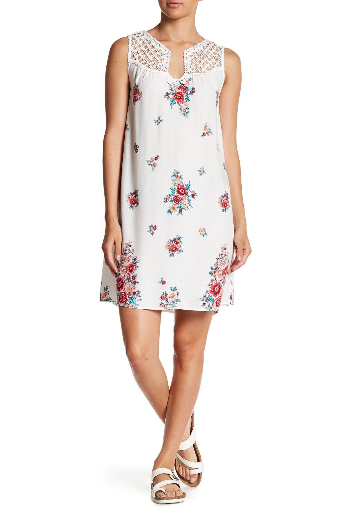 Tassels N Lace Crochet Yoke Floral Dress Products