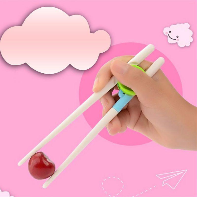 1 Pair Cute Bear Kids Training Helper Learning Fun Toy Gift Chopsticks Tableware