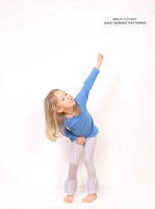 Amelie Clothing - Long Ruffle Leggings - E-PATTERN