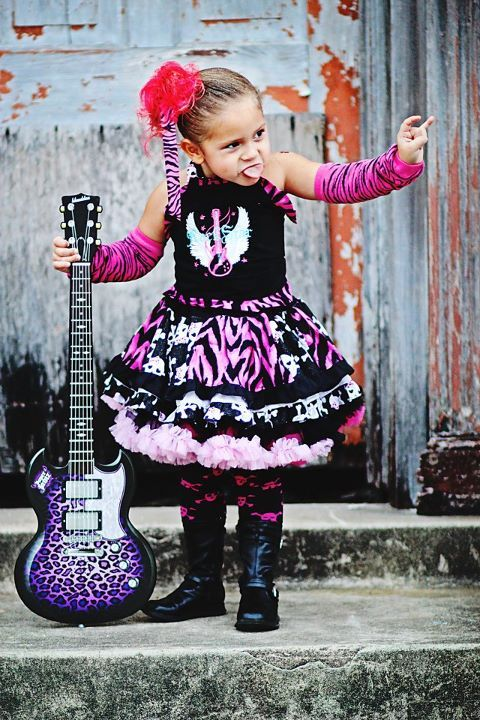 My baby girl in her Rockstar costume! & My baby girl in her Rockstar costume! | Baby stuff | Pinterest | Babies