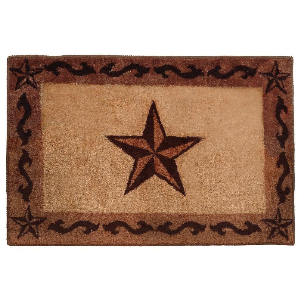 Southwest Rugs Chocolate Scrolls Stars Bath Rug Lone Star Western Decor Western Rugs Purple Bathroom Decor Bath Rug