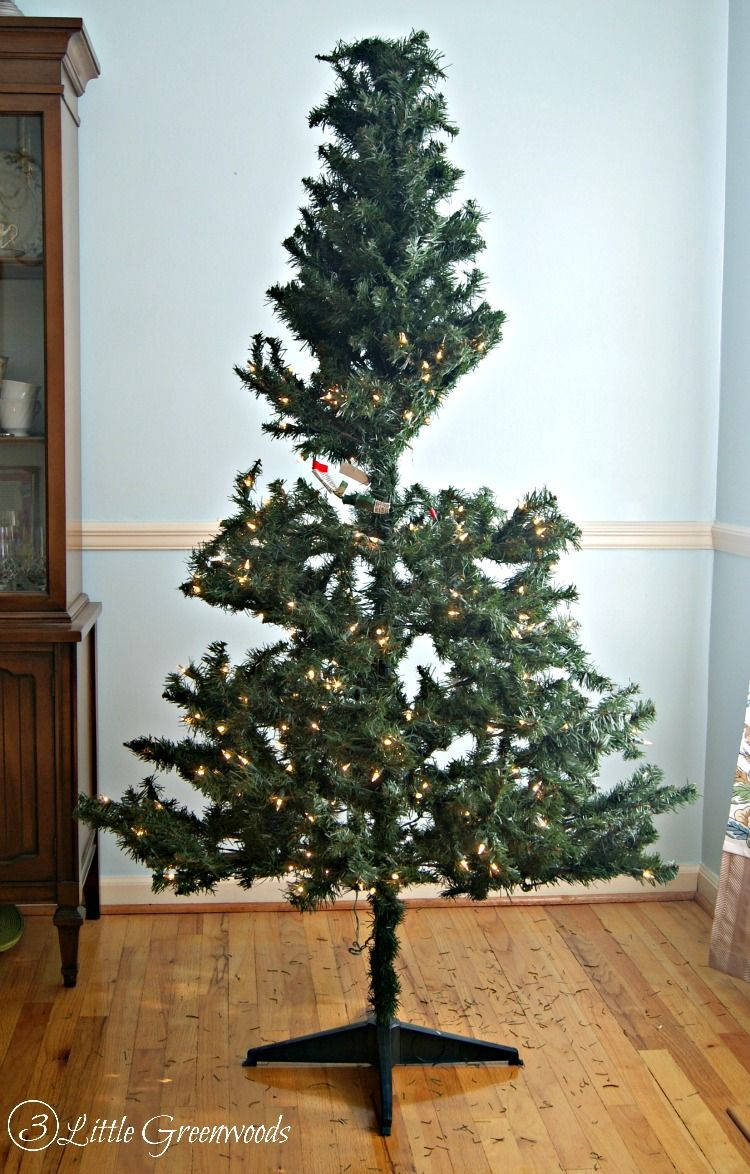 Must Pin Trick For Making A Fake Tree Look Fuller Don T New Artificial Christmas Just Do This Less Than 10 By 3 Little Greenwoods
